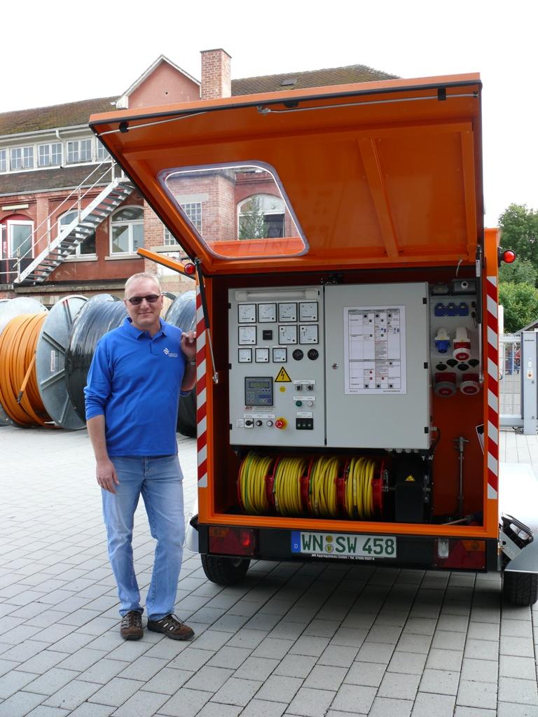 Das mobile notstromaggregat der stadtwerke waiblingen - Mobel waiblingen ...